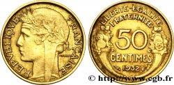 50 centimes Morlon, sans raisin ni fruit, 9 et 2 ouverts 1932  F.192/8 AU50