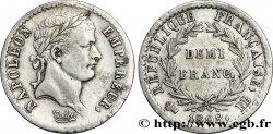 Demi-franc Napoléon Ier tête laurée, République française, buste fin 1808 Strasbourg F.177/4 SS50