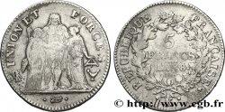 5 francs Union et Force, Union desserré, avec glands intérieurs et gland extérieur 1800 Bordeaux F.291/18 TB28