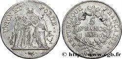 5 francs Union et Force, Union serré, seulement glands intérieurs 1802 Bordeaux F.300/4 XF42