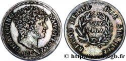 Mezza lira 1813 Naples M.510 AU50