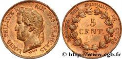 Essai de 5 centimes en bronze, signature BARRE 1840  VG.2917 var. SPL60