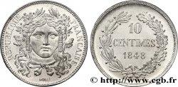 Concours de 10 centimes, essai en étain par Moullé, deuxième revers 1848 Paris VG.3148 var. VZ62