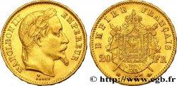 20 francs or Napoléon III, tête laurée 1867 Strasbourg F.532/16 VF  45
