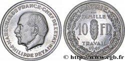 Essai de 10 francs Pétain en aluminium par Simon, poids lourd (3 g) 1941 Paris GEM.177 3 SPL64
