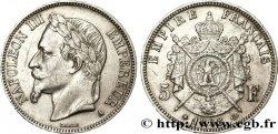 5 francs Napoléon III, tête laurée 1868 Paris F.331/12 TTB50