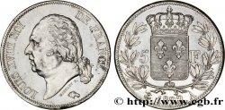 5 francs Louis XVIII, tête nue 1822 Paris F.309/67 XF48
