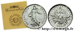Brillant Universel argent 5 francs Semeuse 2001 Paris F5.1206 1 FDC