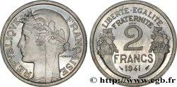 Essai de 2 francs Morlon, aluminium, poids lourd 1941 Paris F.269/1 FDC65