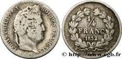 1/4 franc Louis-Philippe 1832 Lille F.166/28 var. VF20