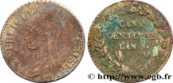 Cinq centimes Dupré, grand module 1797 Orléans F.115/17 TB25