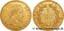 5 francs or Napoléon III, tête nue, grand module 1858 Paris F.501/5 TTB45