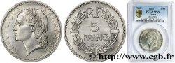 Concours de 5 francs, essai de Lavrillier en nickel, sans différents 1933 Paris VG.5357 ST65 PCGS