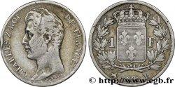 1 franc Charles X, matrice du revers à cinq feuilles 1825 Rouen F.207/2 TB30