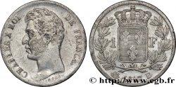 1 franc Charles X, matrice du revers à cinq feuilles 1827 Lyon F.207/28 VF35