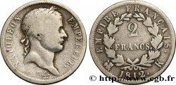 2 francs Napoléon Ier tête laurée, Empire français 1812 Bordeaux F.255/44 B  12