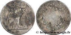 5 francs Union et Force, Union desserré, avec glands intérieurs et gland extérieur 1798 Paris F.291/10 TB  25