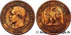 Dix centimes Napoléon III, tête nue 1855 Strasbourg F.133/23 TB35
