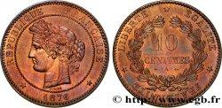10 centimes Cérès 1876 Paris F.135/16 SUP62