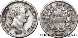 Demi-franc Napoléon Ier tête laurée, Empire français 1812 Paris F.178/36 XF48