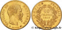 10 francs or Napoléon III, tête nue 1859 Strasbourg F.506/8 TTB48