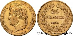 20 francs or Louis-Philippe, Domard 1838 Lille F.527/19 XF42