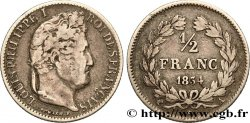 1/2 franc Louis-Philippe 1834 Paris F.182/39 VF35