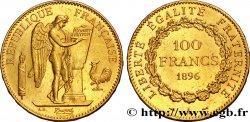100 francs or Génie, tranche inscrite en relief Dieu protège la France 1896 Paris F.552/11 AU50