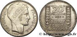 20 francs Turin, rameaux longs 1933  F.400/3 AU58