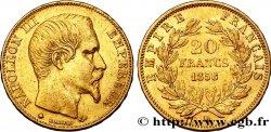 20 francs or Napoléon III, tête nue 1858 Strasbourg F.531/14 TTB45