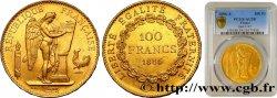 100 francs or Génie, tranche inscrite en relief Dieu protège la France 1886 Paris F.552/7 PCGS AU58