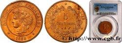 5 centimes Cérès 1889 Paris F.118/31 MS65 PCGS