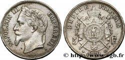 Faux de 5 francs Napoléon III, tête laurée 1870 Paris F.331/17 var. XF