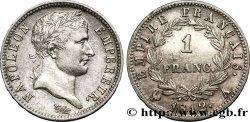 1 franc Napoléon Ier tête laurée, Empire français 1812 Paris F.205/41 XF48