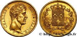 40 francs or Charles X, 1er type 1824 Paris F.543/1 TTB50