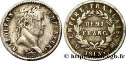 Demi-franc Napoléon Ier tête laurée, Empire français 1813 Marseille F.178/59 TB25