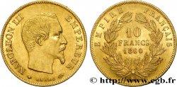 10 francs or Napoléon III, tête nue 1860 Strasbourg F.506/11 TTB50