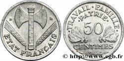 50 centimes Francisque, légère 1944 Beaumont-Le-Roger F.196/4 TTB52