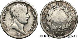2 francs Napoléon Ier tête laurée, Empire français 1810 Limoges F.255/15 F13