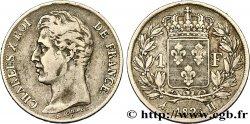 1 franc Charles X, matrice du revers à cinq feuilles 1825 La Rochelle F.207/5  25