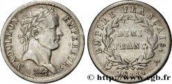 Demi-franc Napoléon Ier tête laurée, Empire français 1811 Paris F.178/21 SS42
