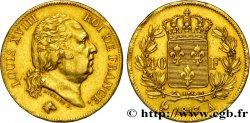 40 francs or Louis XVIII 1817 Paris F.542/6 AU50