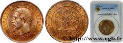 Dix centimes Napoléon III, tête nue 1852 Paris F.133/1 SPL PCGS MS64