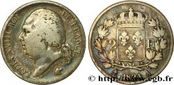 2 francs Louis XVIII 1824 Paris F.257/51 VF25