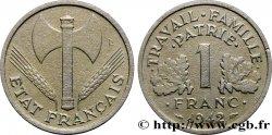 1 franc Francisque, légère 1942 Paris F.223/2 TB