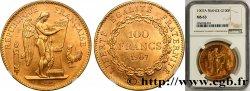 100 francs or Génie, tranche inscrite en relief Liberté Égalité Fraternité 1907 Paris F.553/1 SPL NGC MS63