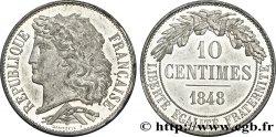 Concours de 10 centimes, essai en étain par Dantzell 1848 Paris VG.3135 var. SUP62