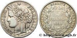 5 francs Cérès, IIe République 1851 Paris F.327/7 VF