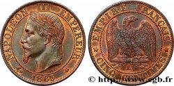 Cinq centimes Napoléon III, tête laurée 1865 Paris F.117/14 SPL63