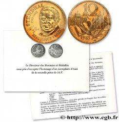 Essai 10 francs Stendhal, Tranche A 1983 Paris F.368/2 MS68